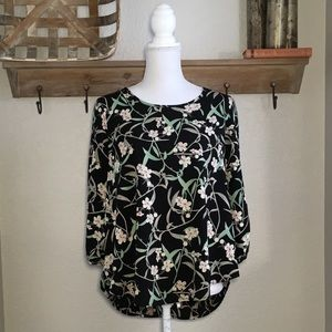 NWT Stitch Fix Kaileigh Klein Scoop Neck Top Flora